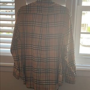 Burberry Tops - Burberry Chain Detail Vintage Check Flannel Shirt